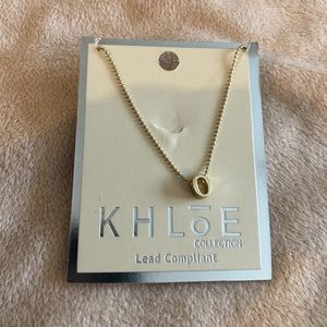 """Khloe gold """"O"""" necklace"""